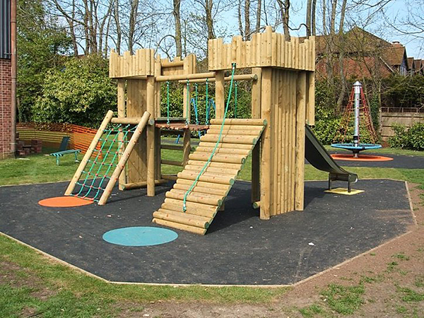 wooden play equipment